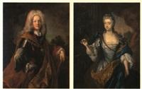 porträt karl vi. von habsburg und der gemahlin elisabeth christine by joseph vivien