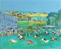 la course a longchamps by jean dufy