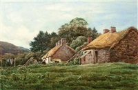 cottages, near loch lomond by james alfred aitken