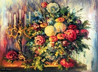 flower arrangement by leonid afremov