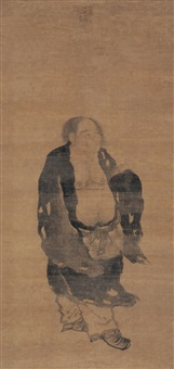 刘海戏蟾 (figure) by emperor chenghua