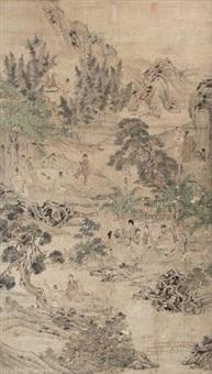 西园雅集图 by ding yunpeng