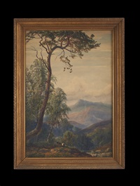western mountainous landscape by american school
