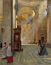 blick in die jesuitenkirche il gesù in rom by hans kolitz