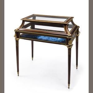 Louis xvi style vitrine table by mottheau et fils on artnet for Table franco et fils