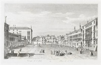 campo di s. polo (after canaletto, from prospectus magni canalis venetiarum; + 2 others; 3 works) by antonio visentini