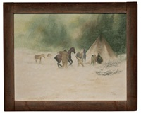 indian snow scene by jacob pfeiffer