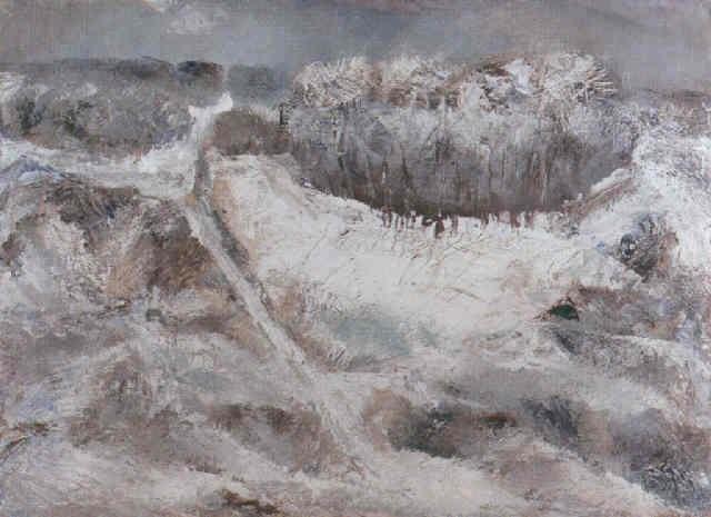winterlandschaft kraichgau by emil wachter