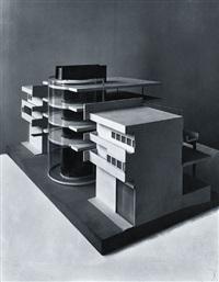 geschäftsviertel, haifa, palästina, modell, architekt: arthur korn by curt rehbein
