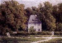 blick auf goethes gartenhaus by margarete von baczko