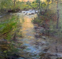 a woodland stream by julius olsson