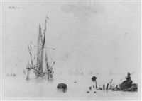 segler in küstennahen gewässern by sieuwert van der meulen