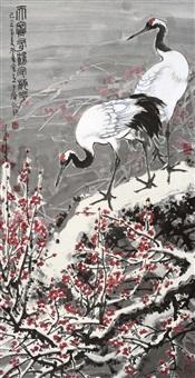 天寒有鹤守梅花 (crane) by jia bingwu