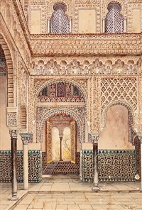 patio del alcázar de sevilla by tomas aceves