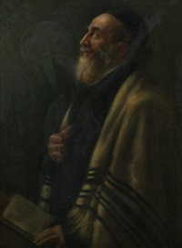 portrait of a rabbi by moritz gottlieb