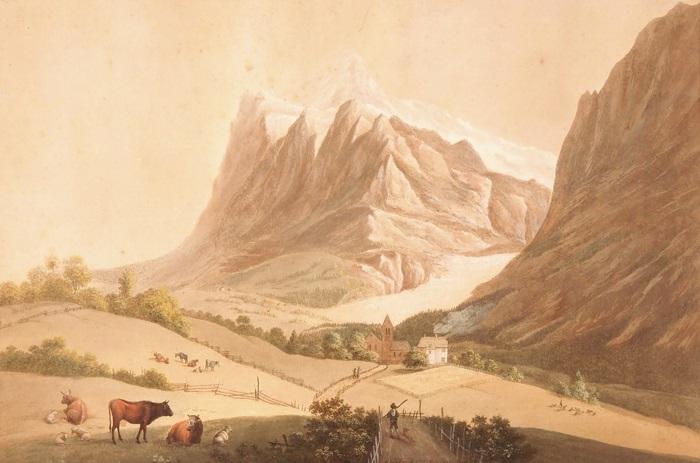 grindelwaldgletscher by johann ludwig (louis) bleuler