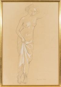 jeune femme nue debout by maurice denis