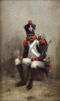 militaire assis by jules gachet