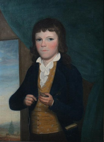 portrait of a young boy with spinning top by john vanderlyn
