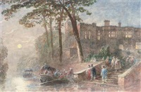 leaving the party by boat by george haydock dodgson
