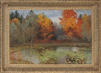the lilie pond, autumn by sergei mikhailov