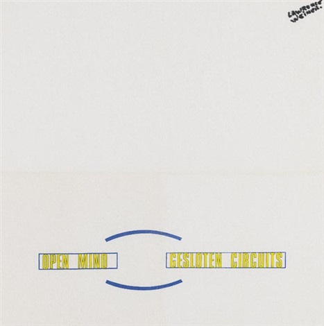 open mind gesloten circuits by lawrence weiner