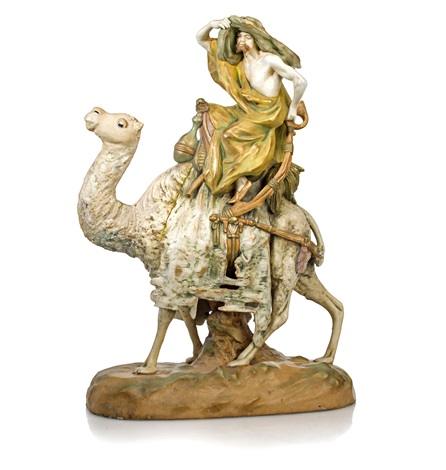 a camel and rider by amphora werke reissner