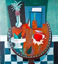 still life with pineapple by david macleod