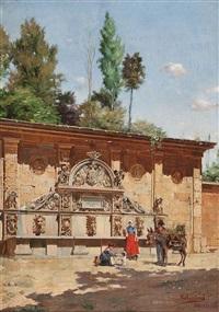 fuente de carlos v en la alhambra by eduardo laforet