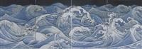 white path: river of water (quadriptych) by akira yamaguchi