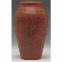 vase with flower design by louise abel