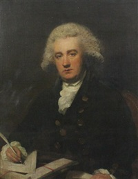 portrait of the hon. john cochrane, (1750-1801) deputy commissary to the forces in north america, m.p for burghs, dunfermline by lemuel francis abbott