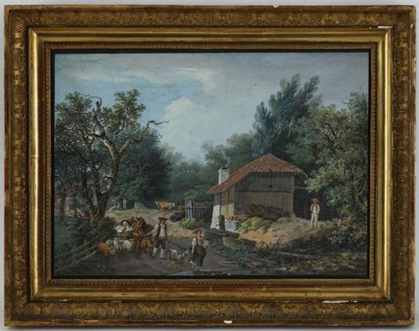 Vue de la maison du berger valziete canton de fribourg by for Artzain etchea la maison du berger