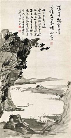 fishing alone by zhang daqian