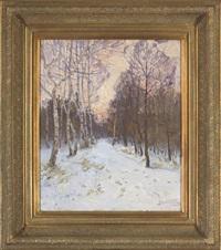 winter light by victor ivanovich koshevoi