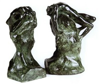 adam (+ eve; pair of bookends) by gwen le gallienne