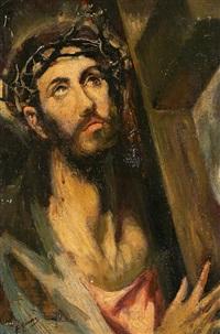 cristo con la cruz a cuestas by francisco gimeno arasa
