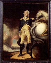 george washington at dorchester heights by john trumbull