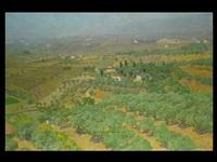 tiefe italienische landschaft vor küste und gebirge by ottorino bicchi