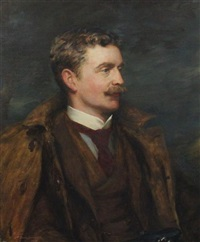portrait of charles vallance alexander cochrane baillie, second baron of lamington gcmg, governor of queensland by robert duddingstone herdman
