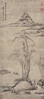 仿倪云林山水 by xiang yuanbian
