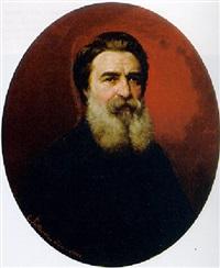 portrait eines bärtigen herren in schwarzer jacke by carl porttmann