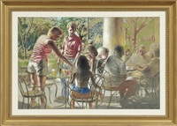 outdoor cafe scene by noel rockmore
