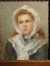 portrait de jeune fille by edouard d' apvril