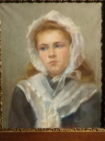portrait de jeune fille by edouard d apvril