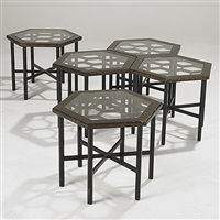 occasional tables (set of 5) by john widdicomb furniture (co.)