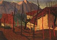 bergdorf mit roten ziegeldächern by louis joseph vonlanthen
