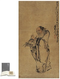 寿星献桃图 (immortal offereing peach) by huang shen