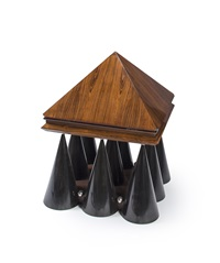 pyramid coffee table by wendell castle