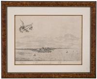 castrum minae (vista de fort elmina, ghana, o de la bahía todos sanctos, brasil) by frans jansz post
